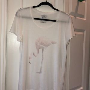 Zoe Karssen Faded Flamingo T-Shirt